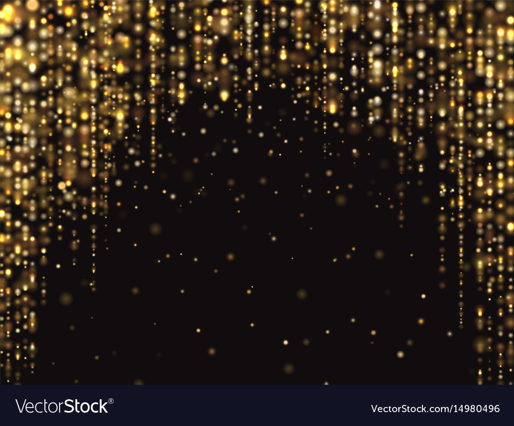 abstract gold glitter lights background royalty free vector