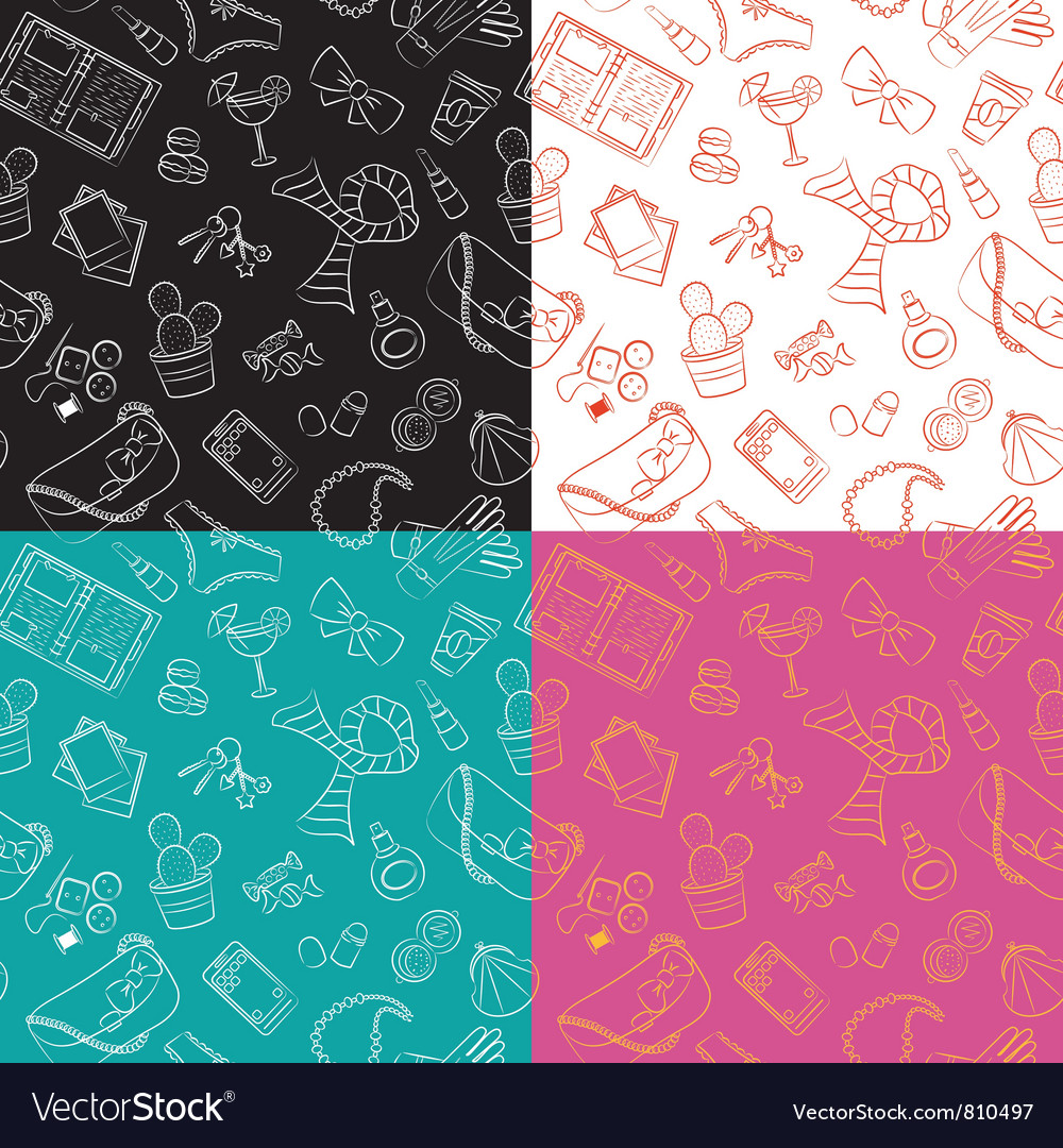 Female things pattern vector image