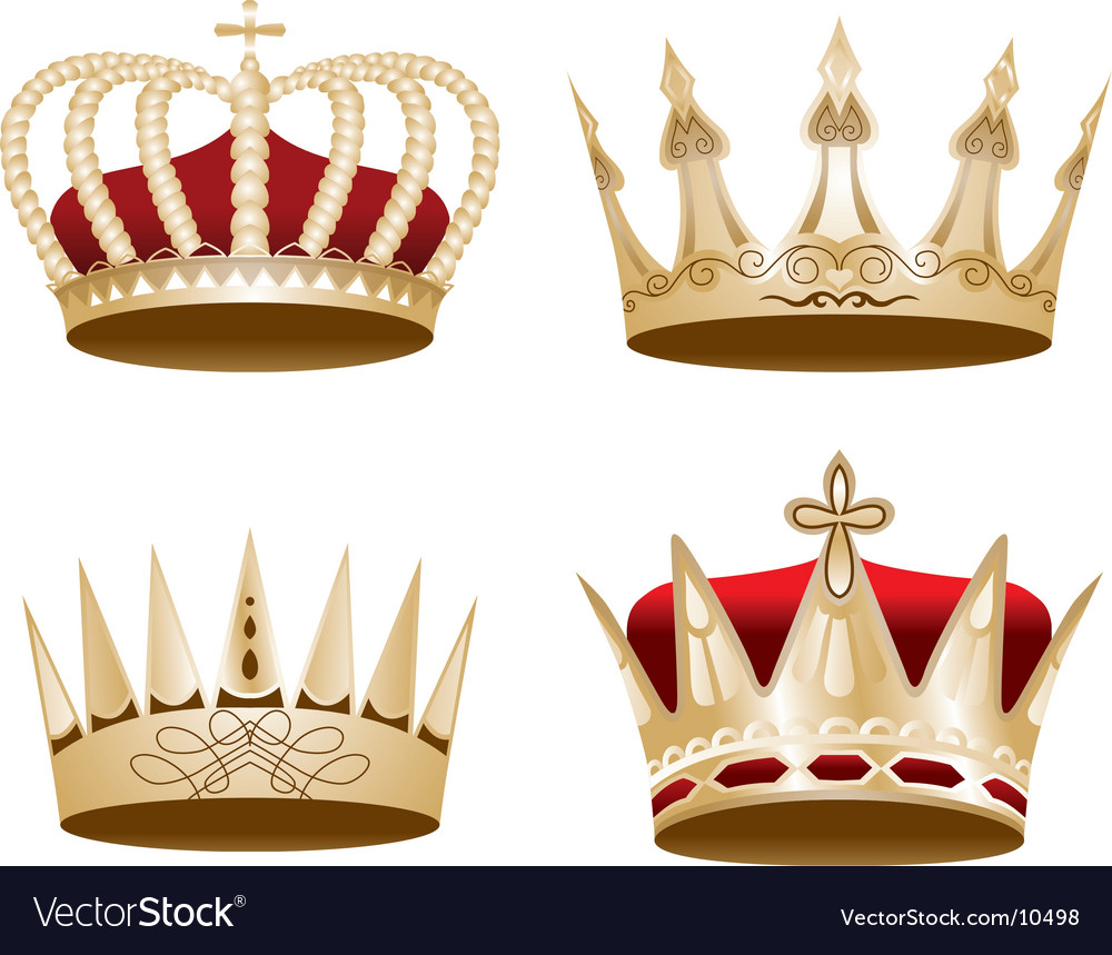 Ized crown vector image