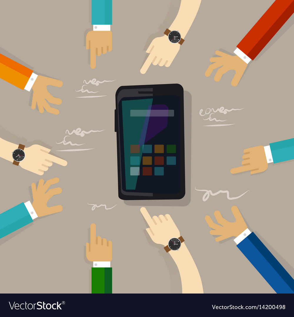 Smart phone mobile technology review customer vector image