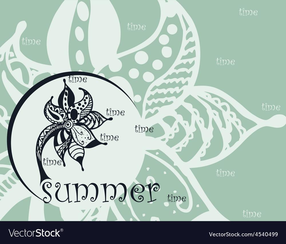 Summer zentangl background vector image