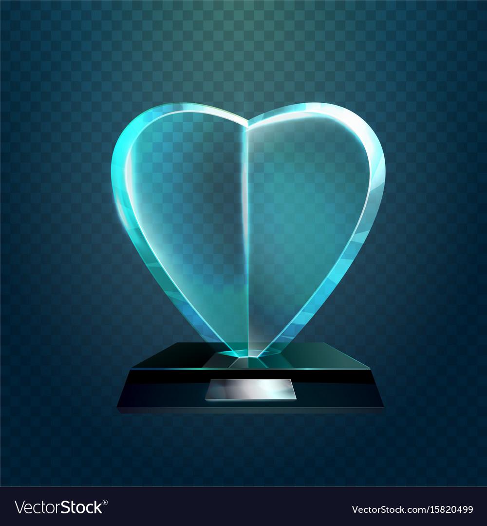 Winner glassware award cup or trophy vector image