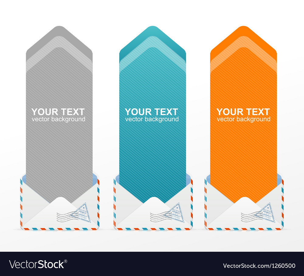 Colorful text box arrow vector image