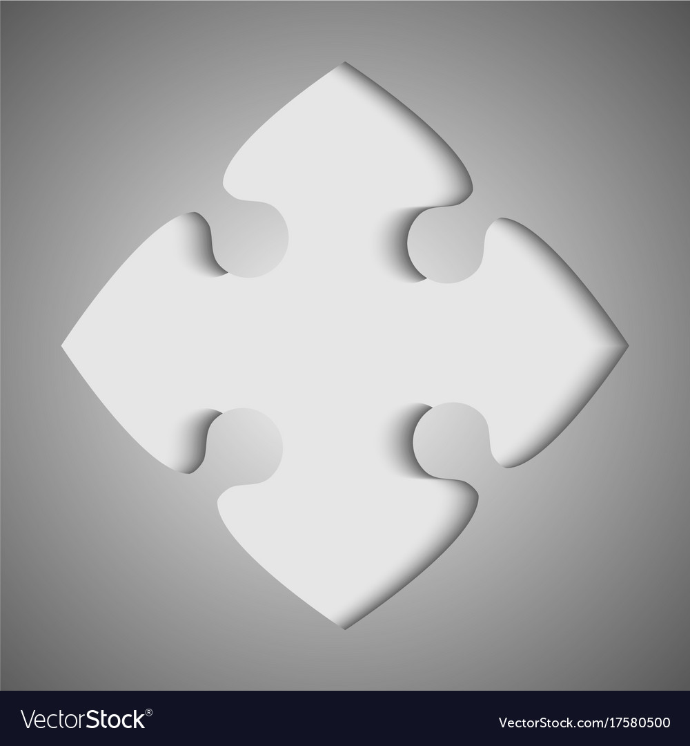 one grey piece flat puzzle jigsaw royalty free vector