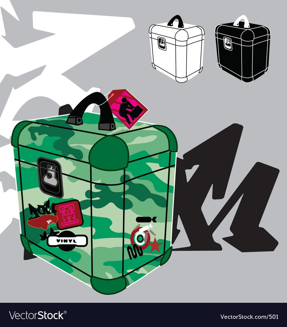 Record box vector image