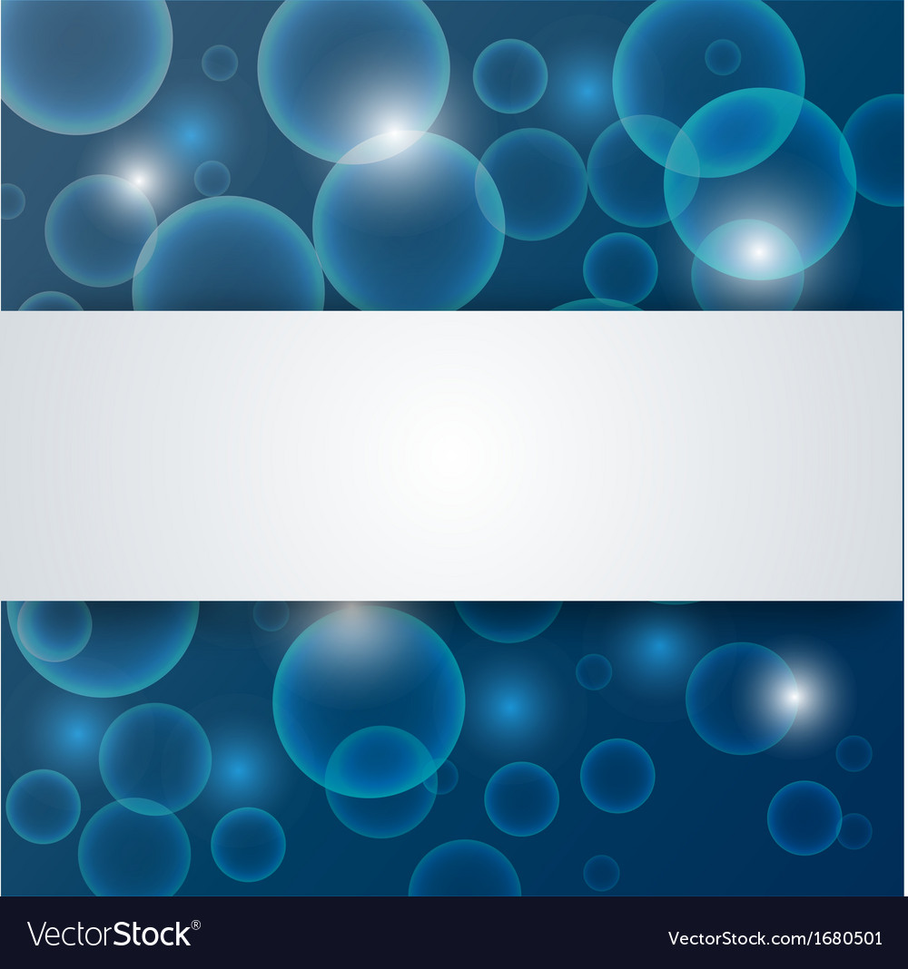 Abstract blue deep - water background vector image