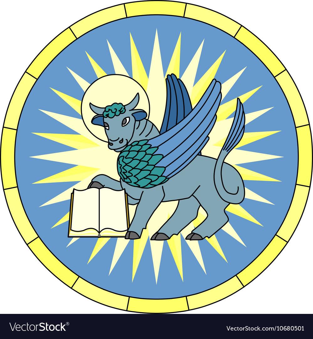 Symbol of luke the evangelist winged ox emblem vector image symbol of luke the evangelist winged ox emblem vector image buycottarizona