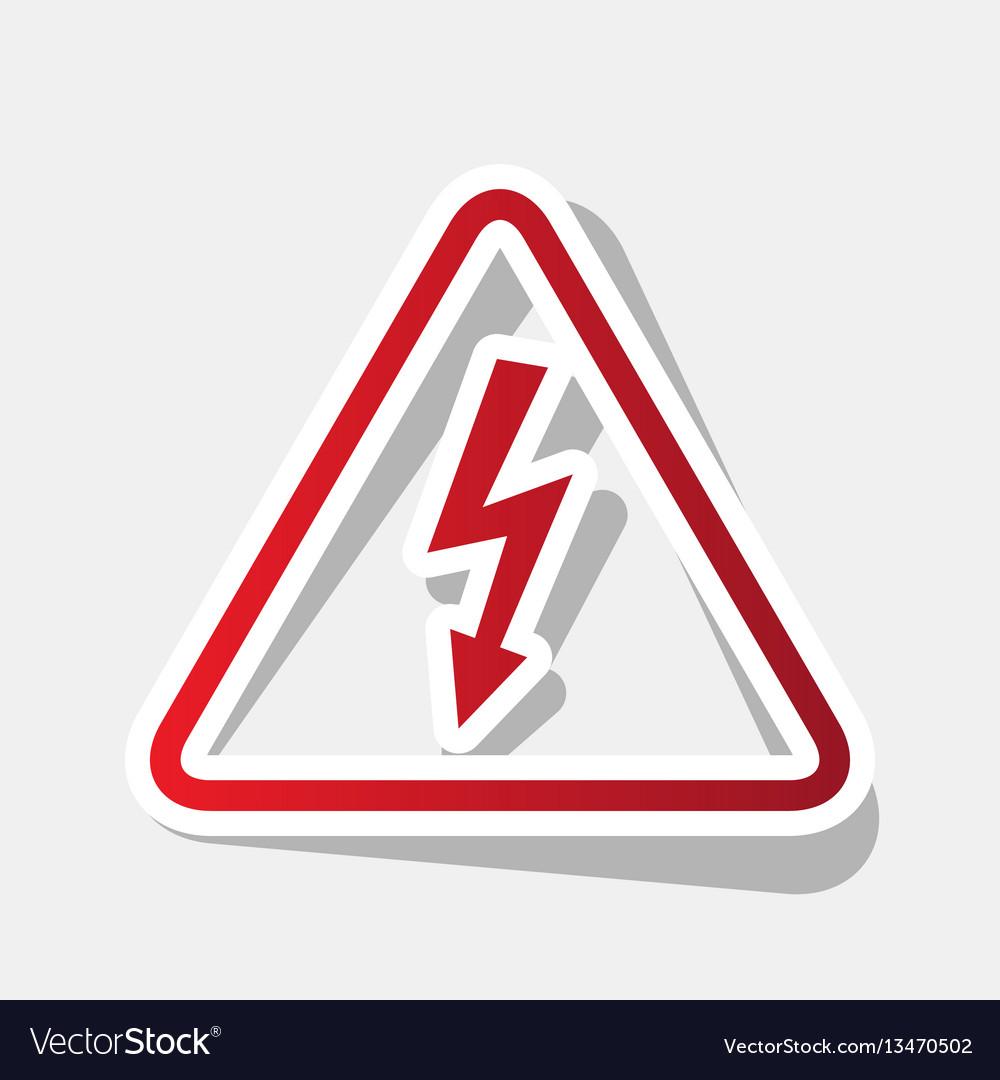 High voltage danger sign new year reddish vector image high voltage danger sign new year reddish vector image buycottarizona