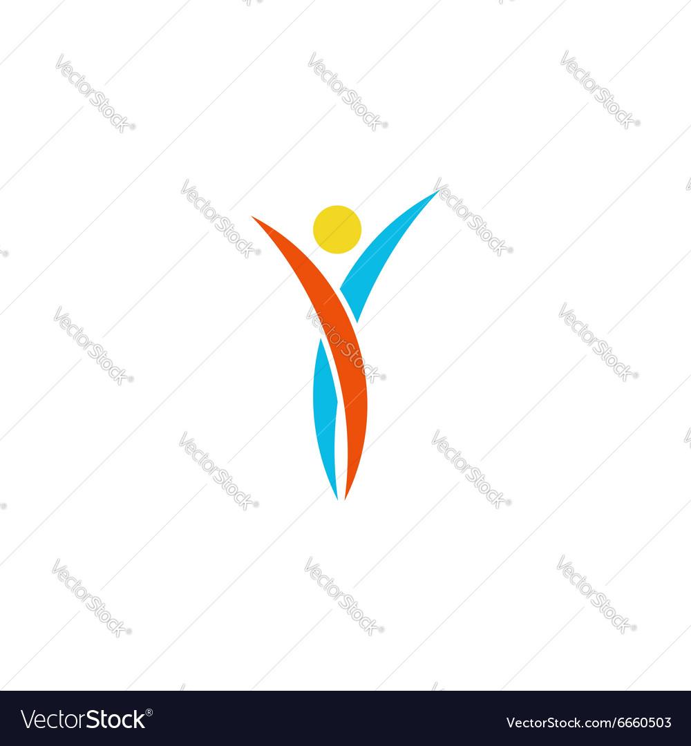 Human logo abstract dance body fitness sport man vector image buycottarizona Choice Image