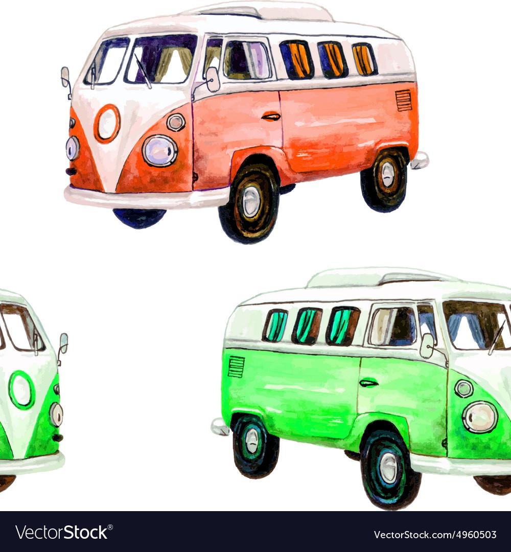 Van pattern vector image