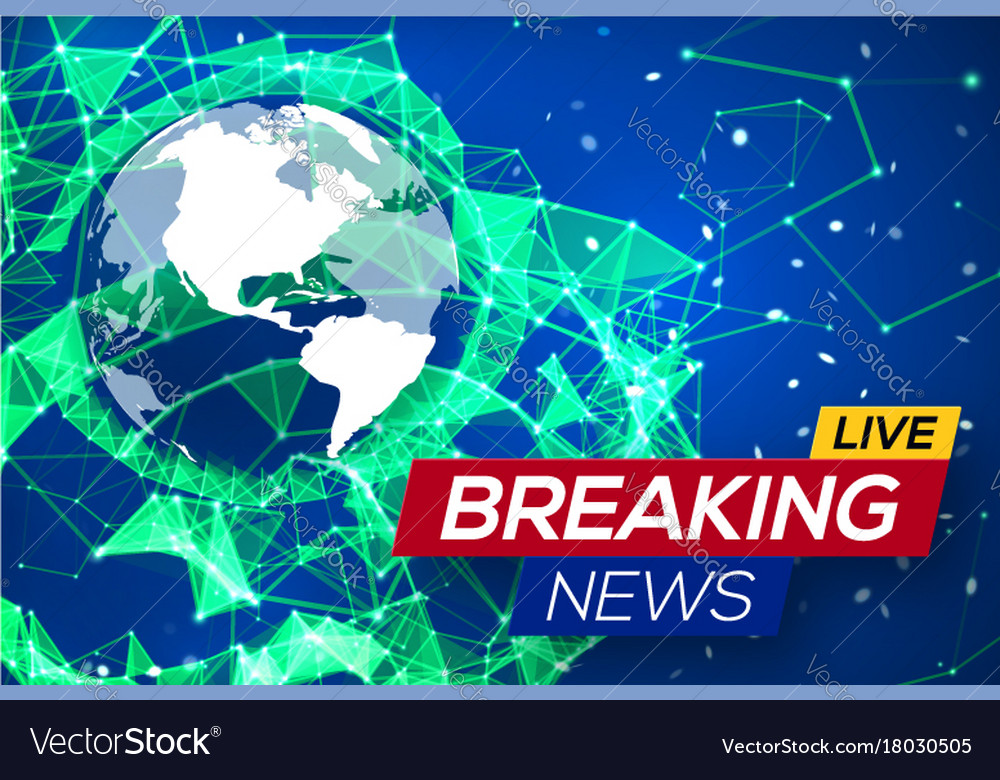 Breaking News Live With World Map On Blue Backdrop - Live world map