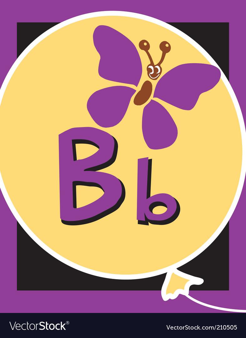 Flash card b vector image