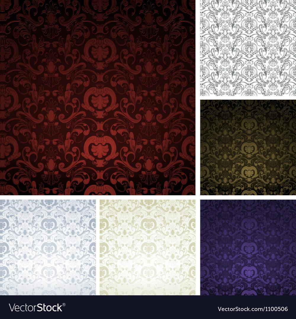 Pattern seamless set vector image