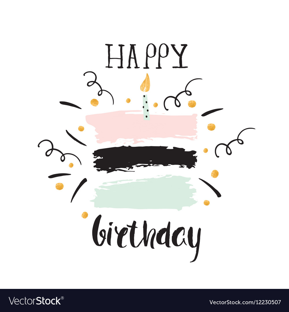 Creative happy birthday greeting background hand vector image kristyandbryce Images