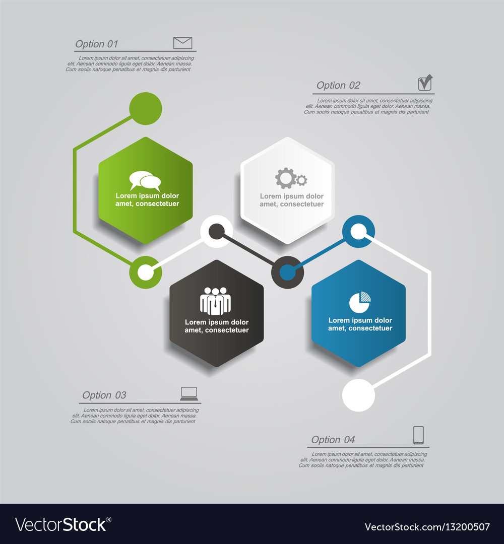 Design template with elements and icons vector image