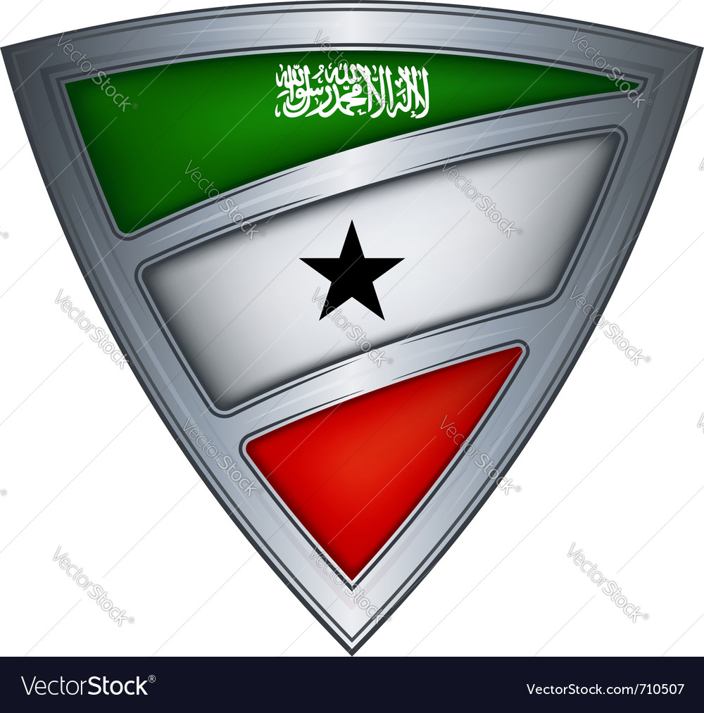 Steel shield with flag somaliland vector image