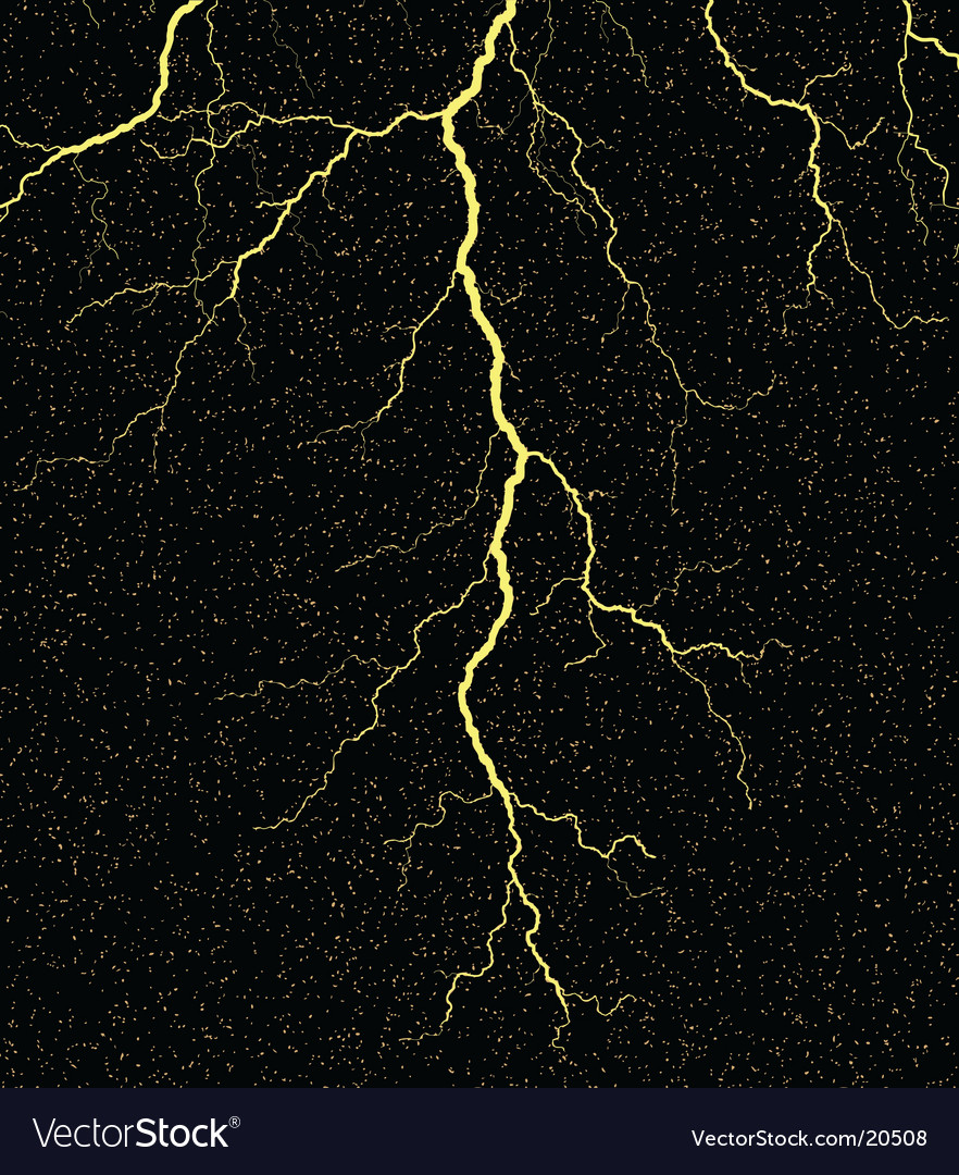 Lightning strike Vector Image