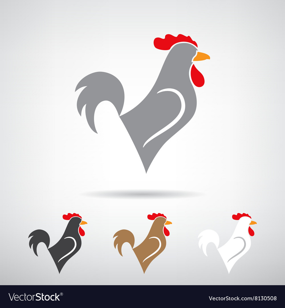 stylized silhouette of a rooster royalty free vector image