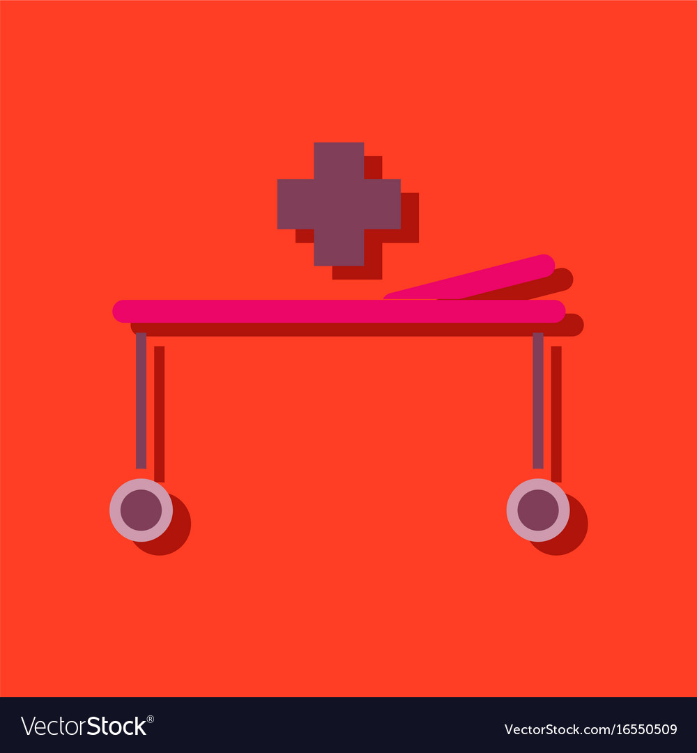 patient in hospital bed line icon sign