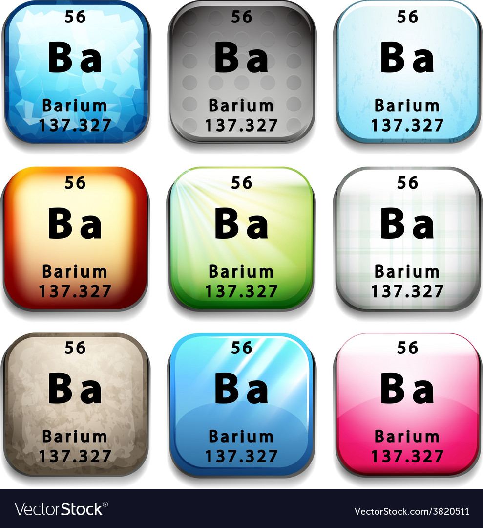 A button with the chemical element barium vector image biocorpaavc Images