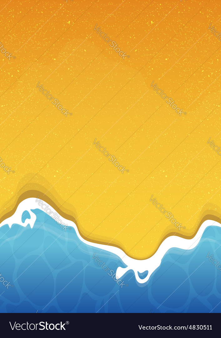 Beach texture background with sea and sand vector image