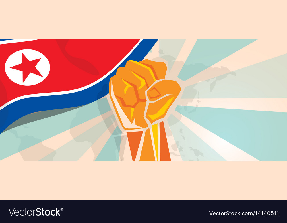 North korea or democratic people s republic of vector image