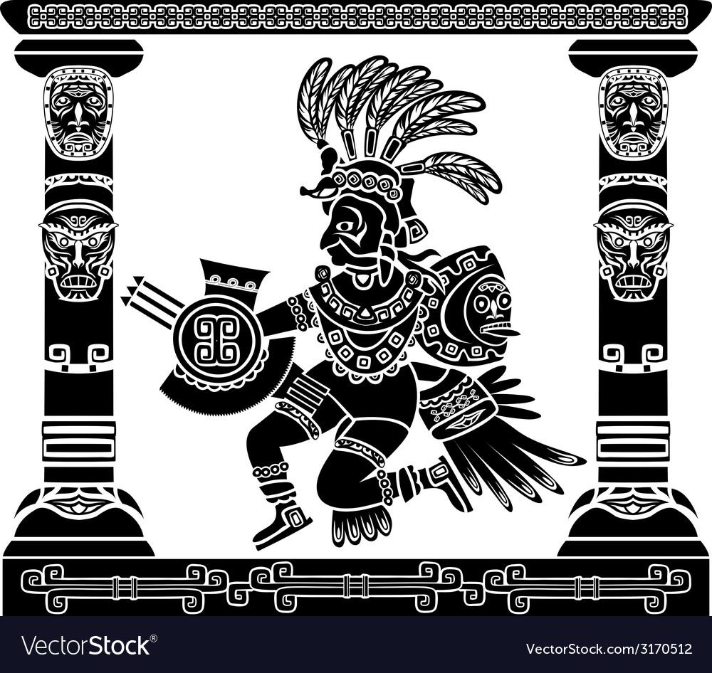 Aztec god Quetzalcoatl vector image