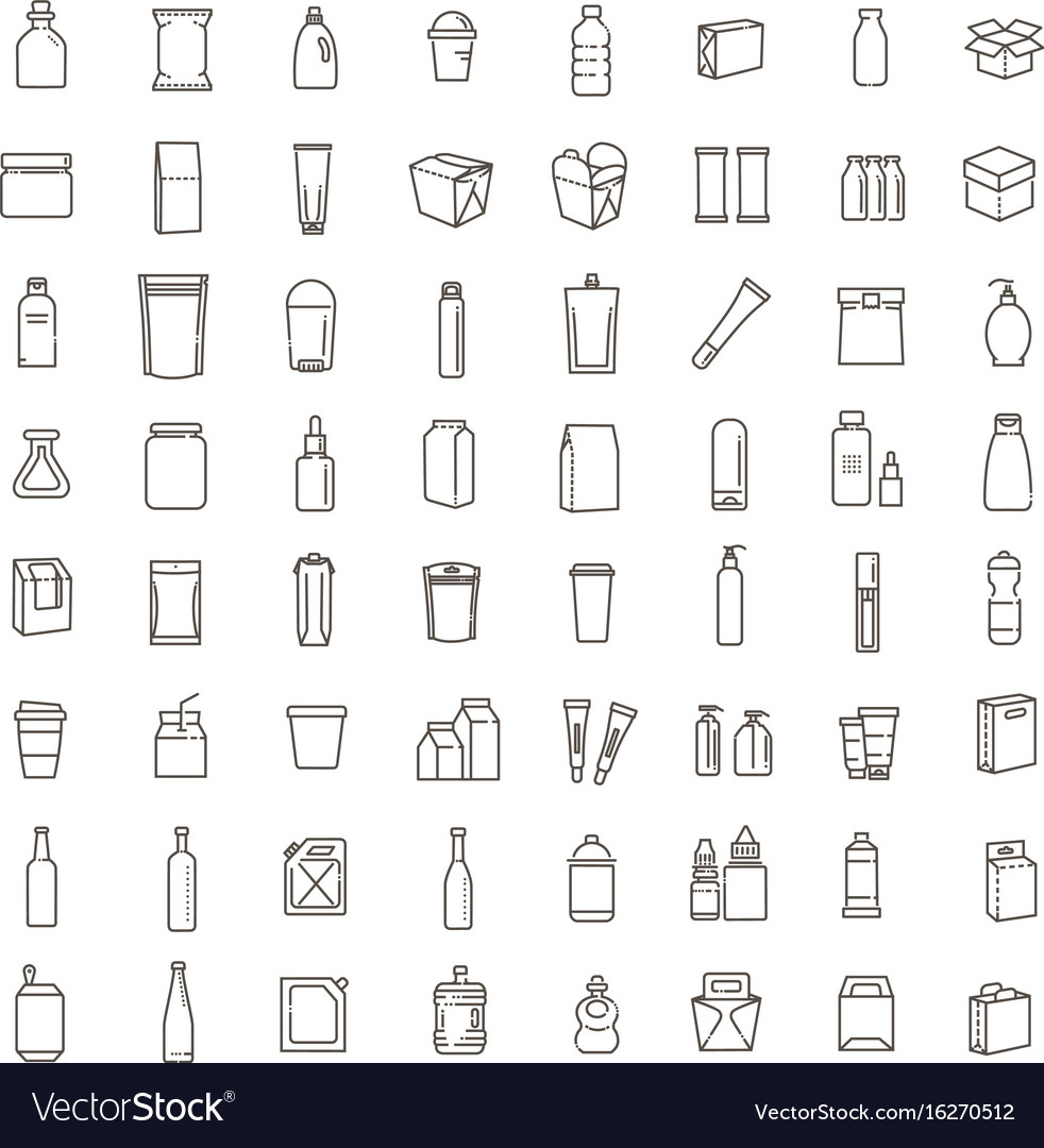 Bottle packaging collection vector image
