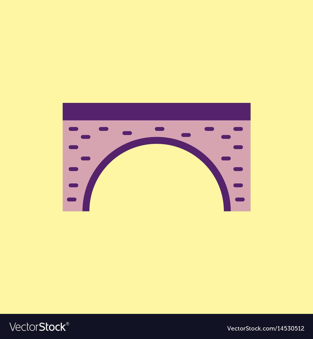 bridge icon flat style