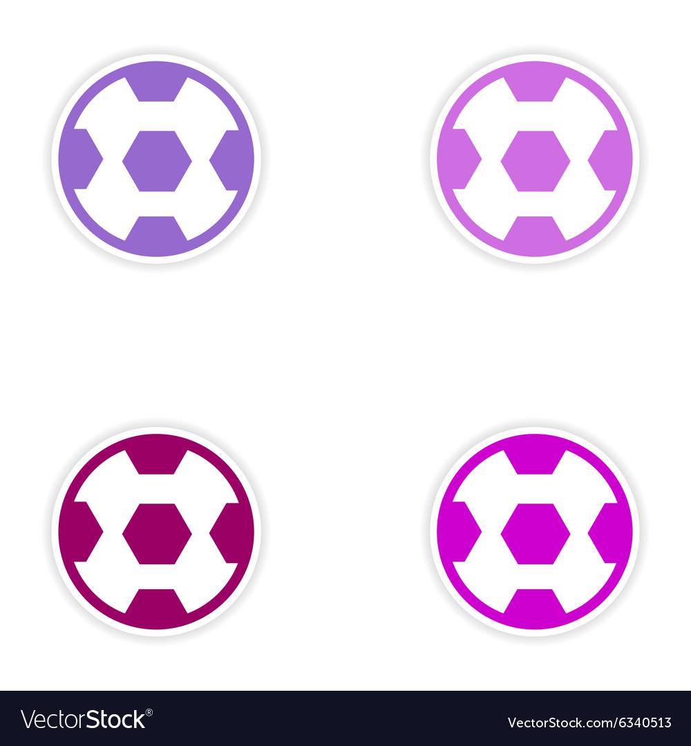 Set of stickers Brazilian football on white