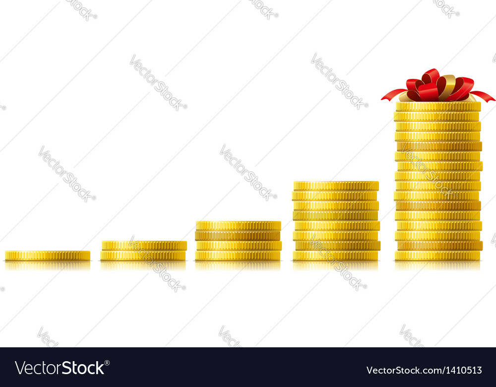 Coins growth vector image