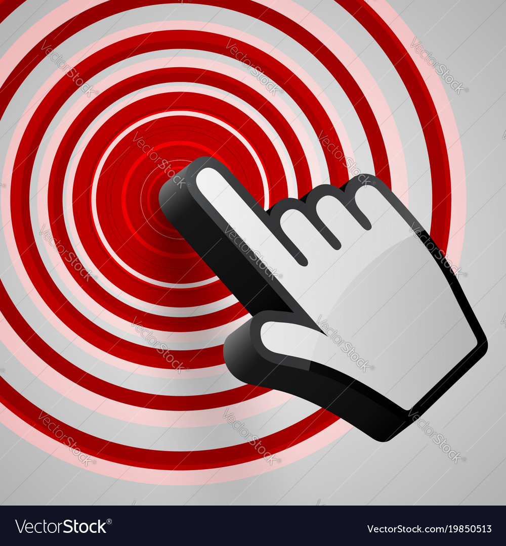Hand arrow spotting vector image