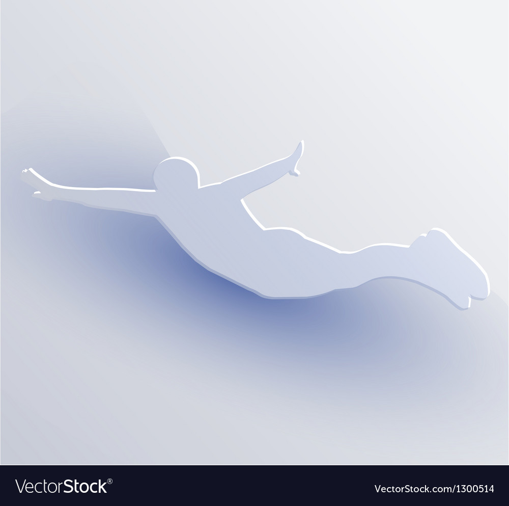 Jumping person Vector Image