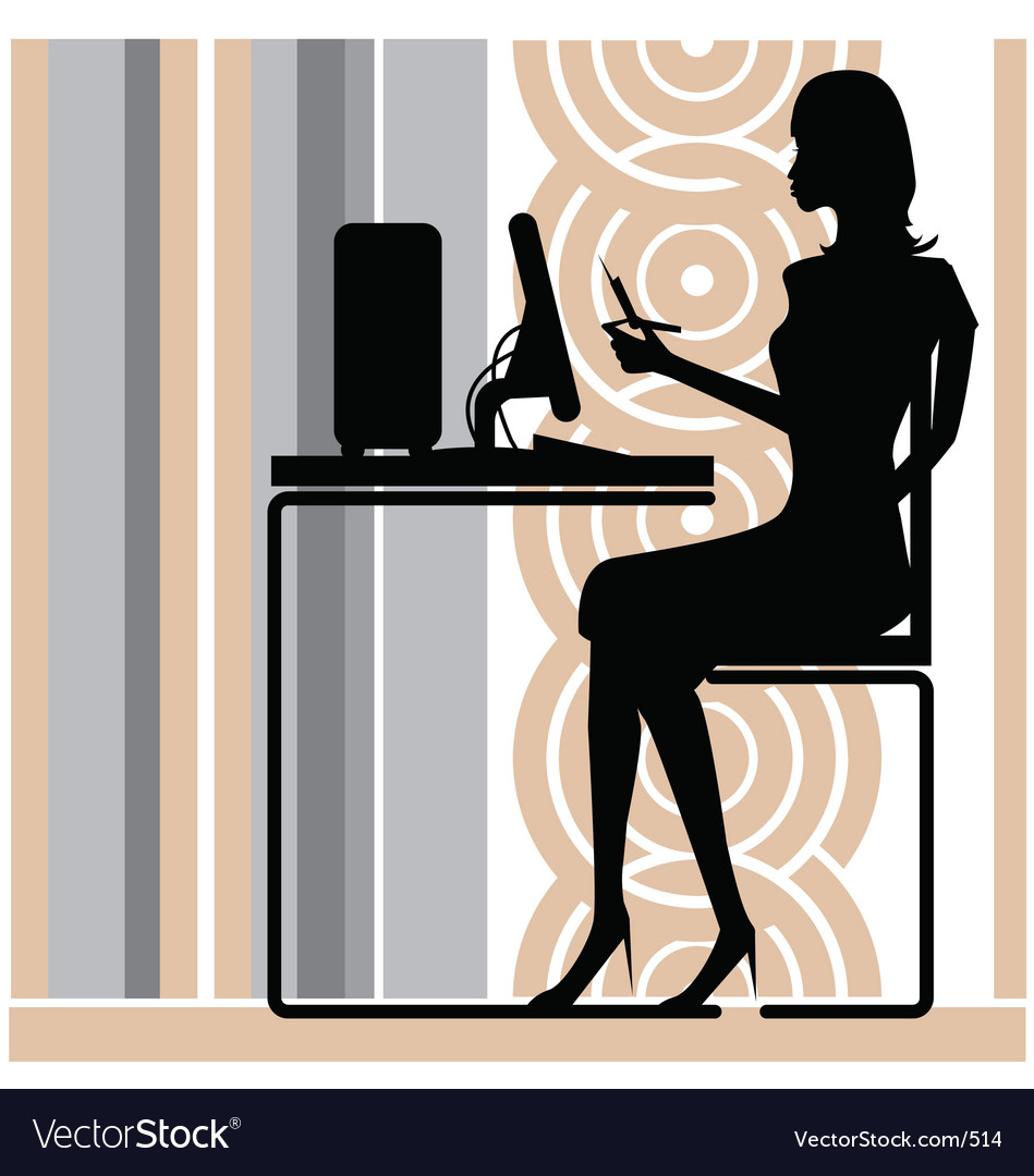 Stylish office girl Vector Image