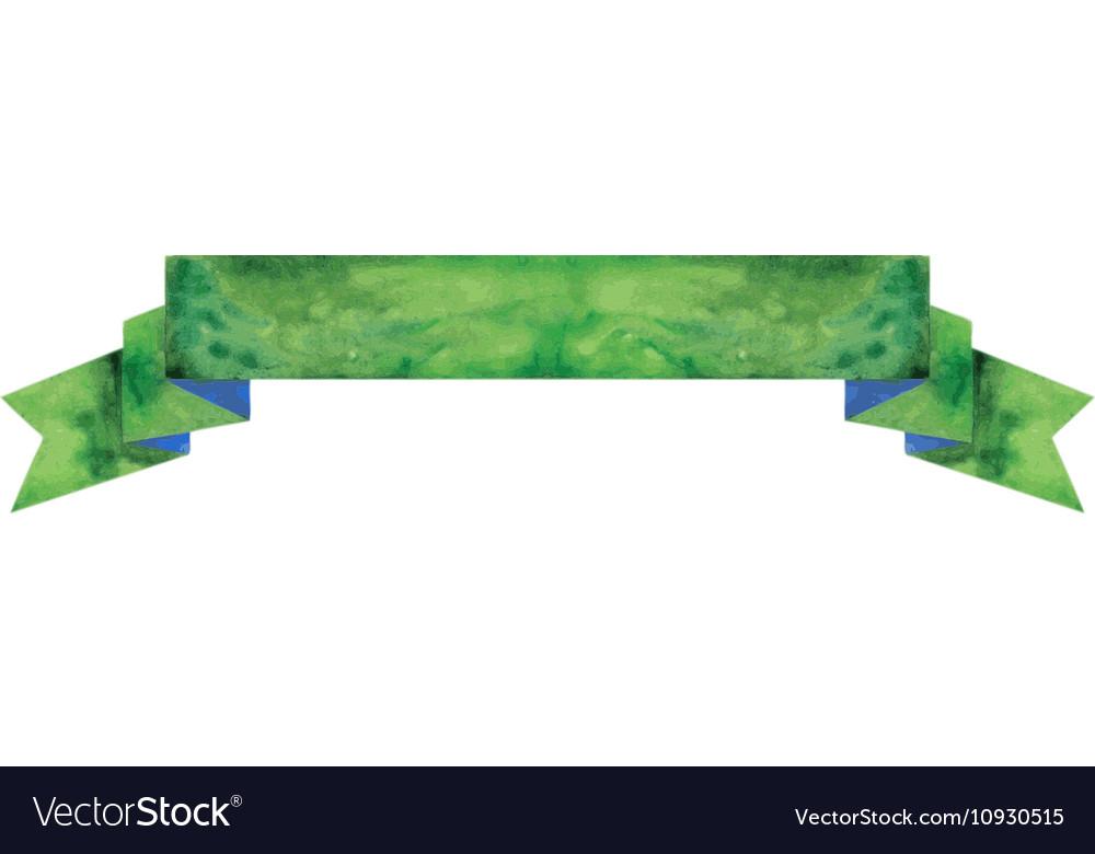 Watercolor dark-green banner vector image