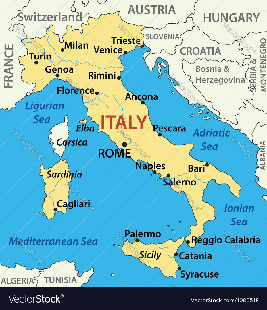 Map of Italy - vector image