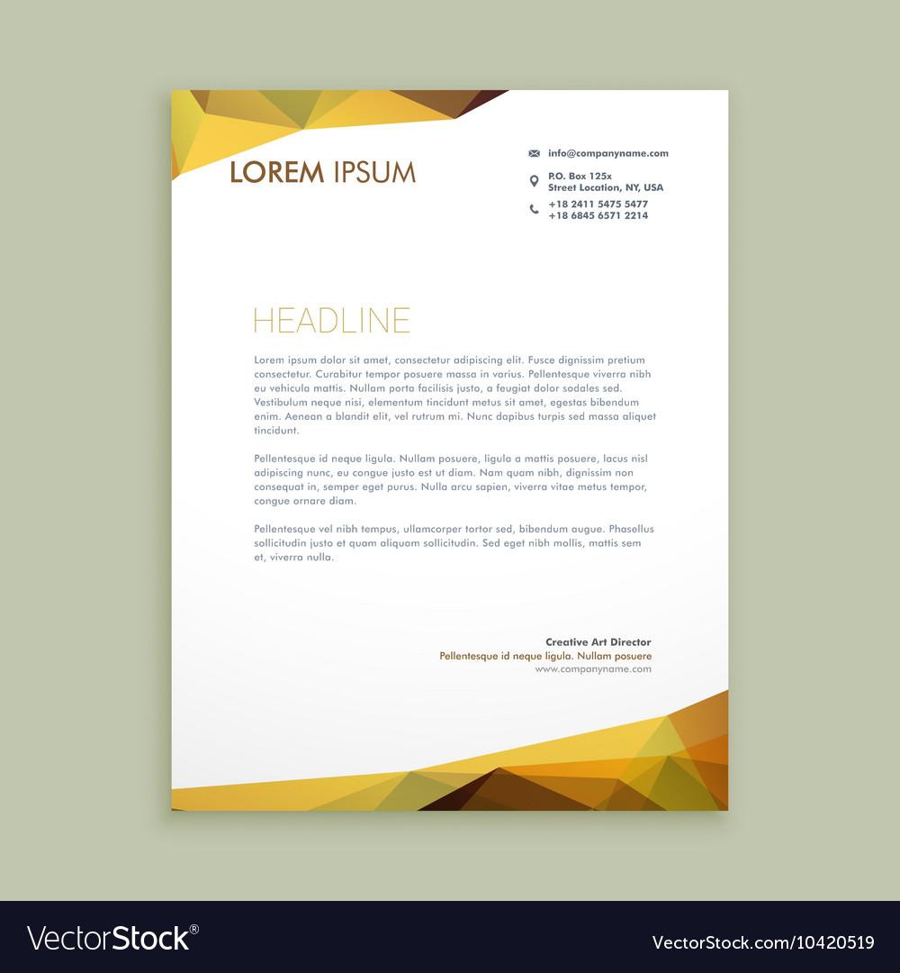 Eps Corporate Letterhead Template 000105: Corporate Modern Letterhead Design Royalty Free Vector Image
