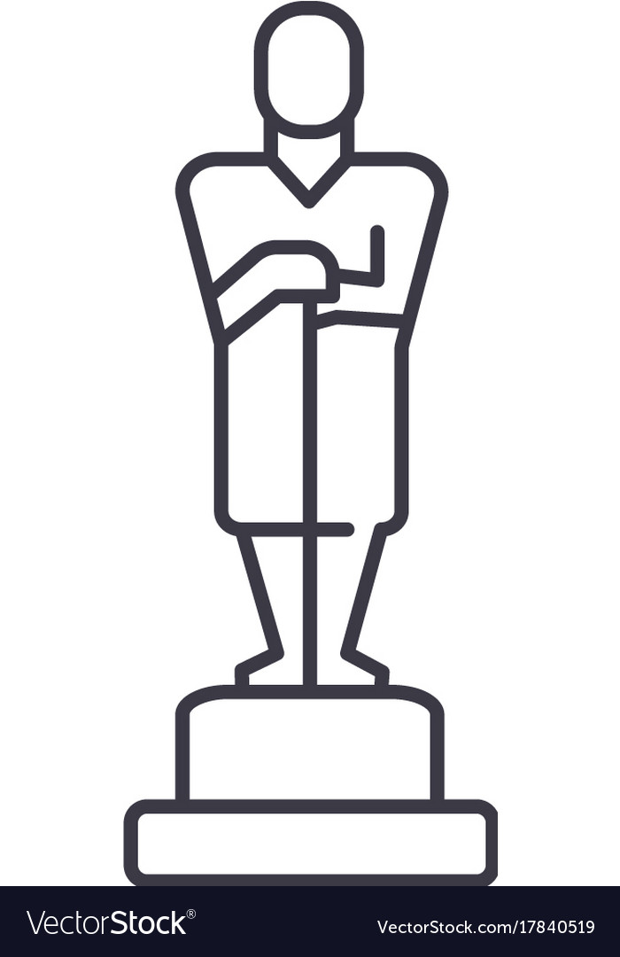 Oscartrophy line icon sign vector image