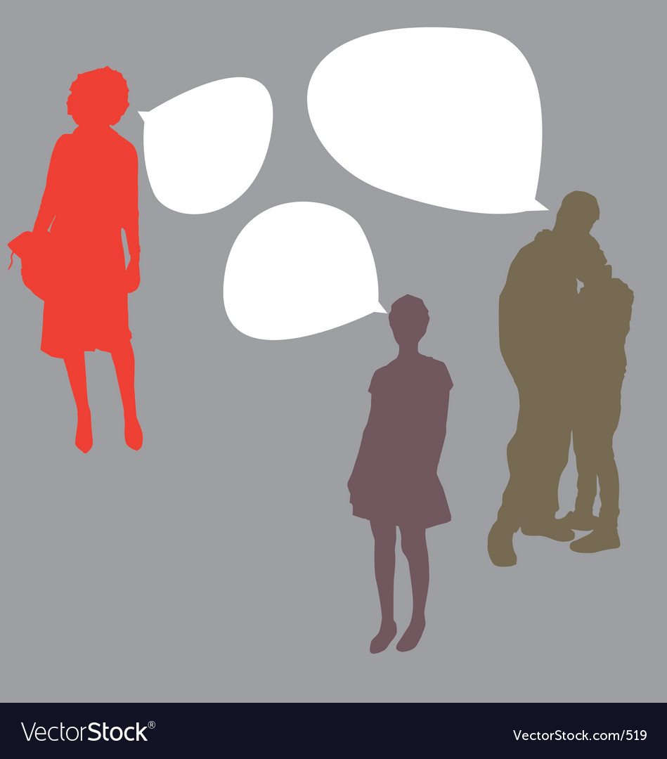Talking people vector image