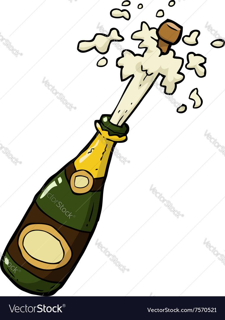 Champagne bottle shot vector image