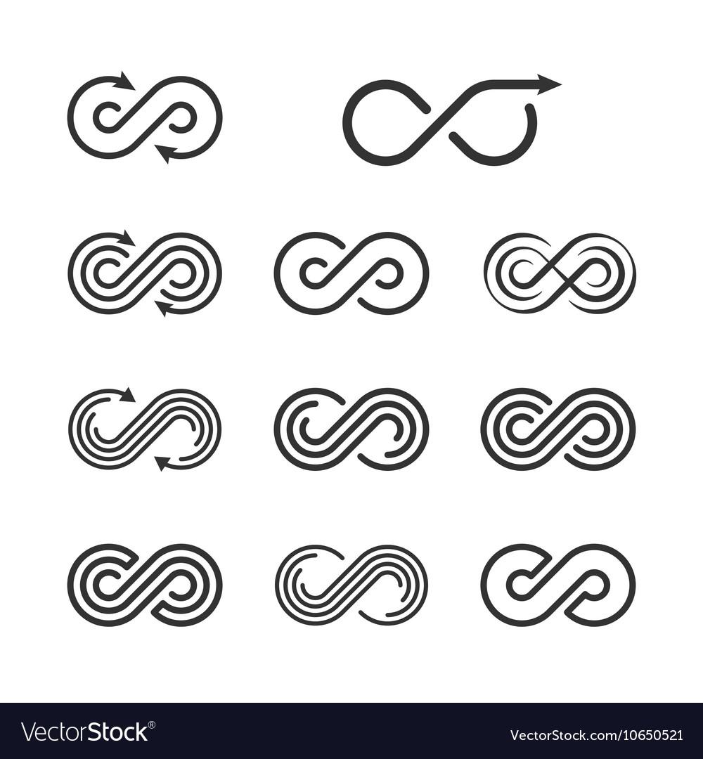 Infinity logo template set infinite symbol icon vector image infinity logo template set infinite symbol icon vector image biocorpaavc