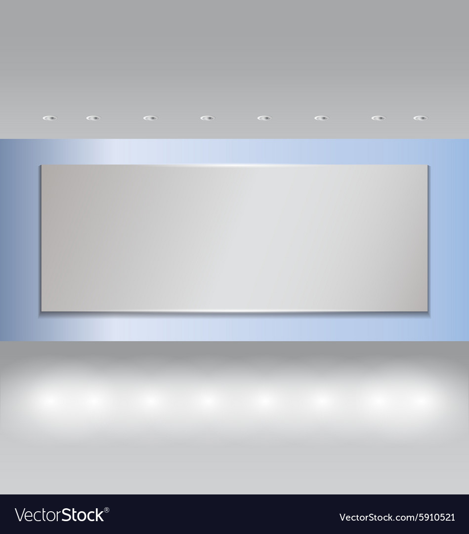 Projector on Blue wall and spot light 2 vector image