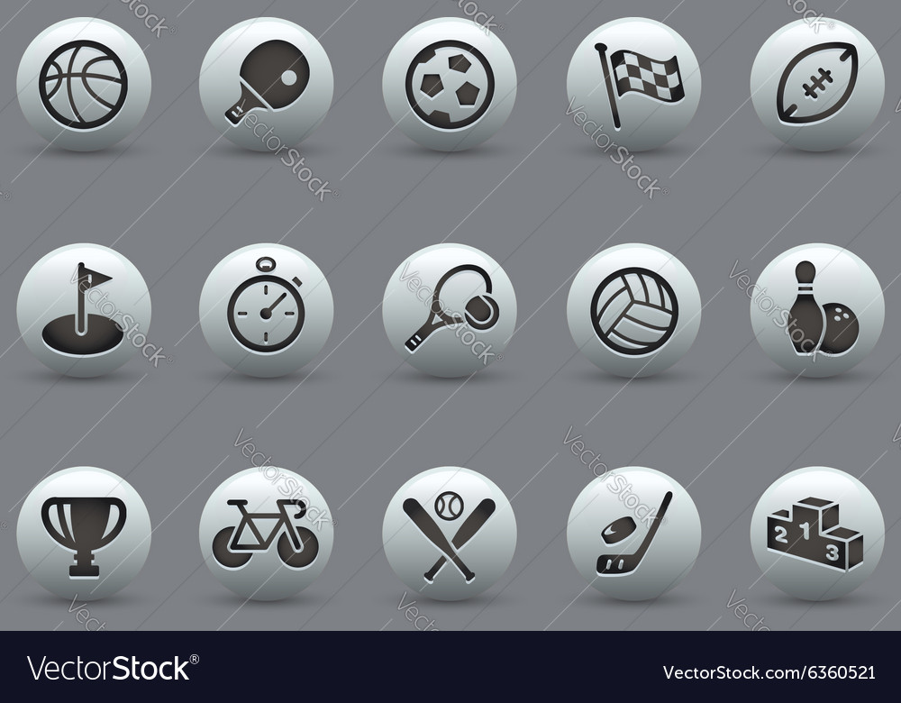 Sports Icons Pearly Series vector image