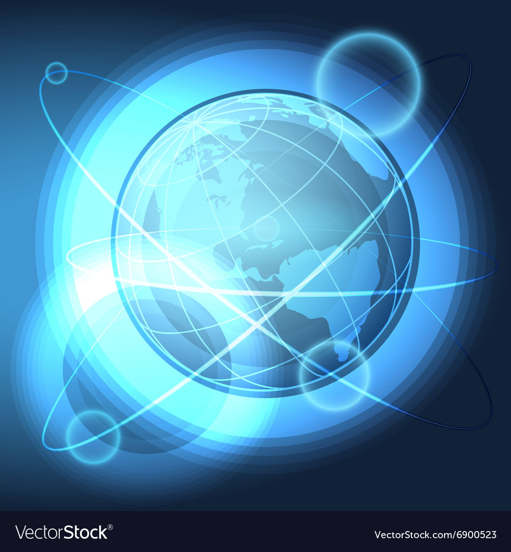 Blue Globe in the Space vector image