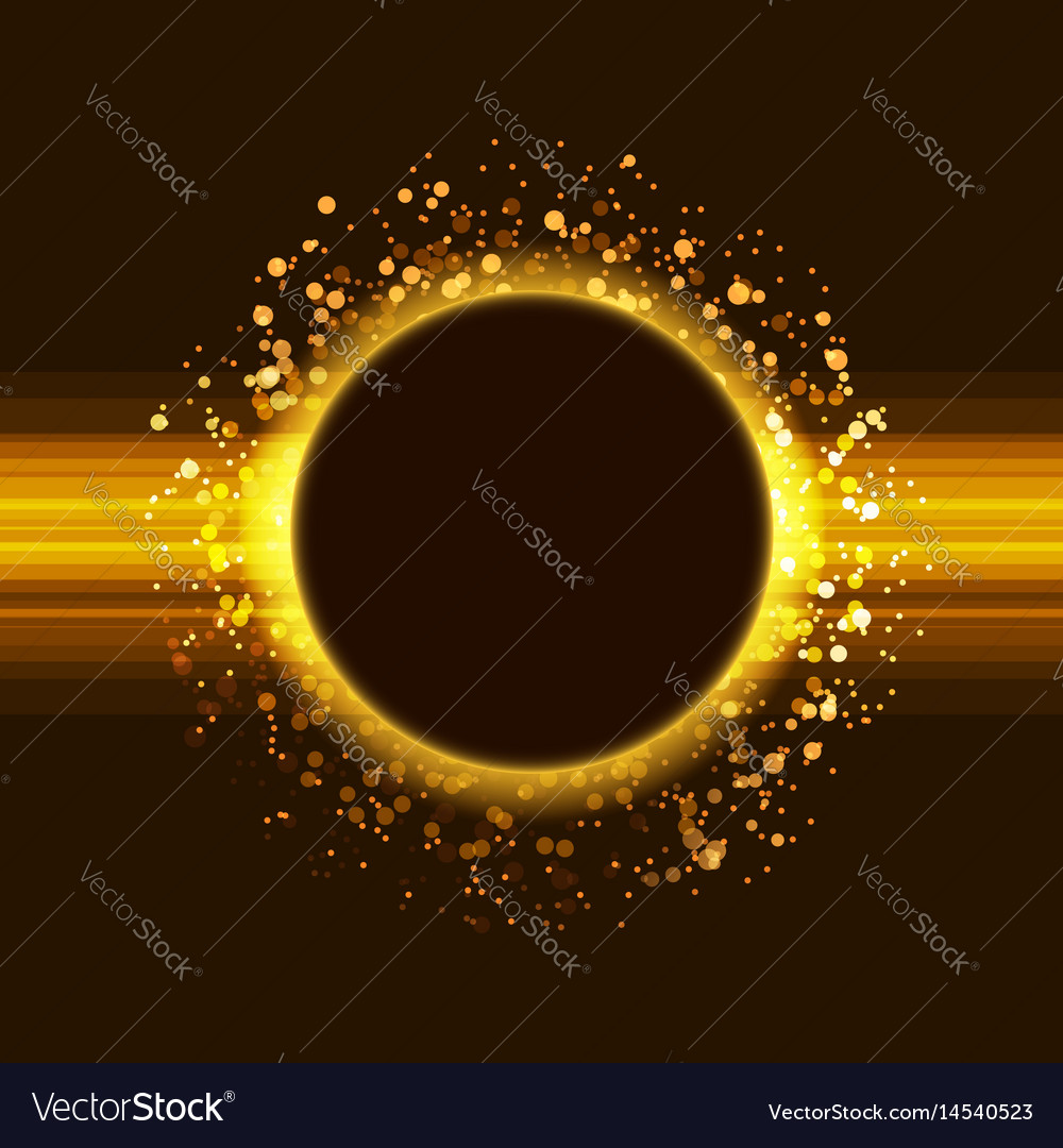 Golden glitter party poster abstract layout vector image