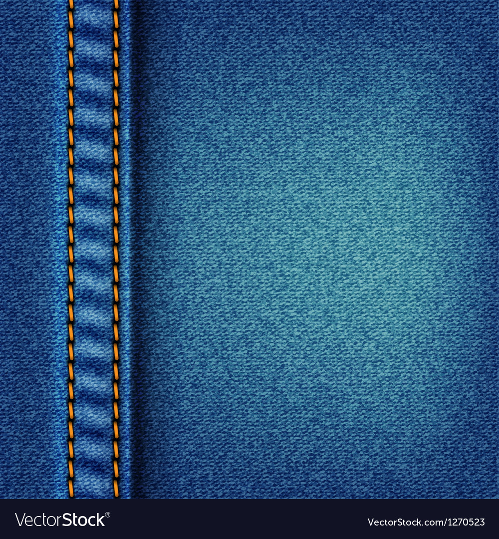 Jeans Texture With Stitch Vector Sewing Machine Abstract