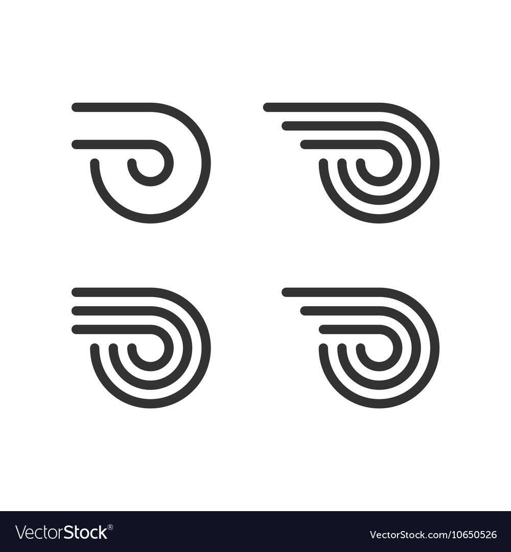 Logo Template Set Wheel With Fire Or Wings Line vector image
