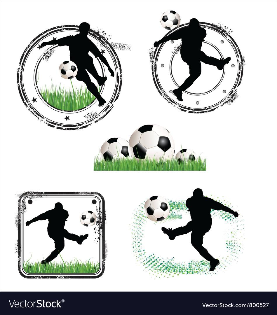 Soccer grunge stamps vector image