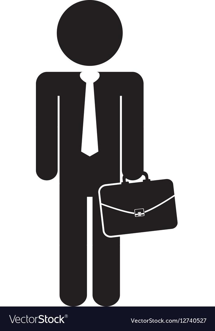 Businessman executive pictogram vector image