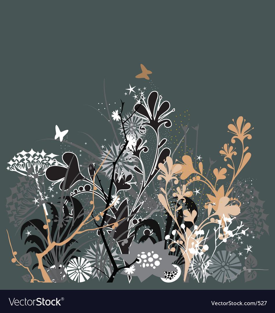 Twilight in my garden vector image